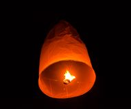 Lanterna di galleggiamento Festiva. Fotografie Stock