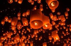 Lanterna di galleggiamento Festiva. Immagini Stock Libere da Diritti