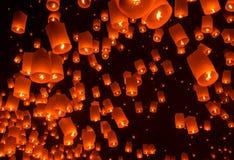 Lanterna di galleggiamento Festiva. Fotografia Stock