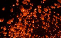 Lanterna di galleggiamento Festiva. Fotografia Stock Libera da Diritti