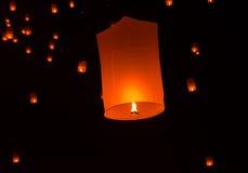Lanterna di galleggiamento Festiva. Immagine Stock