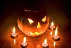 Lanterna di Halloween fotografia stock libera da diritti
