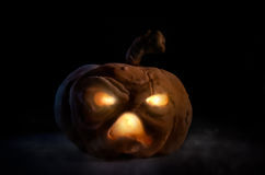 Lanterna di Halloween Jack dell'artigiano Fotografie Stock
