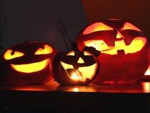 Lanterna di Jack o delle zucche di Halloween Immagini Stock Libere da Diritti