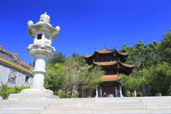 Lanterna di pietra della pagoda Fotografia Stock