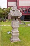Lanterna di pietra nel museo di storia, Corea di Seoul Fotografia Stock