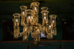 Lanterna di vetro che pende dal soffitto Immagini Stock