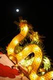 Lanterna do dragão e a Lua cheia Imagens de Stock Royalty Free
