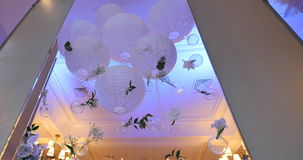 Lanterna do Livro decorativo, Branco video estoque