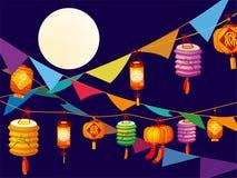 Lanterna do Meados de-Outono ilustração stock