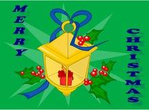 Lanterna do Natal ilustração royalty free