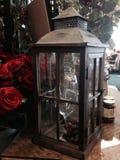 Lanterna do vidro e do metal Fotografia de Stock Royalty Free