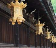 Lanterna dourada Kyoto Japão Fotografia de Stock Royalty Free