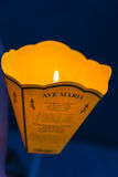 Lanterna e candela Immagini Stock