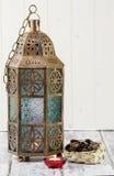 Lanterna e datas Fotografia de Stock