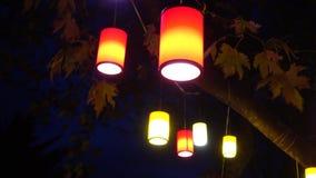 lanterna e notte video d archivio