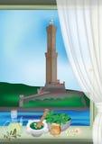 Lanterna e pesto de Genoa ilustração stock