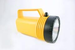 Lanterna elétrica amarela fotografia de stock