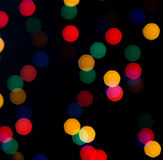 Lanterna elétrica colorida no fundo escuro Fotografia de Stock