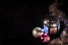Lanterna elétrica do Natal fotos de stock royalty free