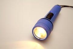 Lanterna elétrica plástica azul fotos de stock