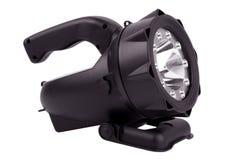 Lanterna elétrica poderosa em um caso plástico Fotografia de Stock
