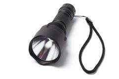 Lanterna elétrica preta da tocha do diodo emissor de luz Fotos de Stock Royalty Free