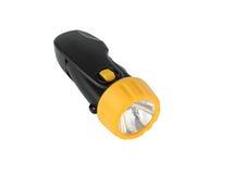 Lanterna elétrica preta e amarela Foto de Stock Royalty Free