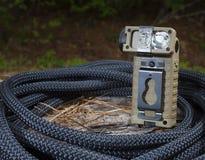 Lanterna elétrica quadrada Foto de Stock Royalty Free