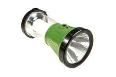 Lanterna elétrica verde do diodo emissor de luz Imagens de Stock
