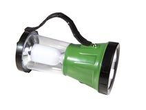 Lanterna elétrica verde do diodo emissor de luz Fotos de Stock