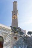 Lanterna fyr, Genua - Italien Royaltyfri Bild