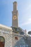 Lanterna fyr, Genua - Italien Arkivfoto