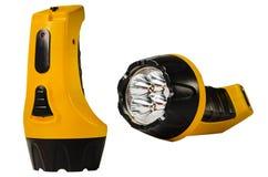 Lanterna gialla su un fondo bianco fotografie stock
