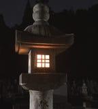 Lanterna giapponese nella notte Immagini Stock