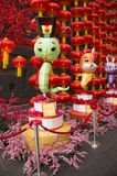 Lanterna grande da serpente, decoração durante o ano novo chinês 2013 Fotografia de Stock Royalty Free