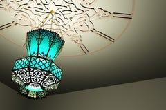 Lanterna islâmica do estilo ilustração stock