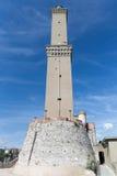 Lanterna latarnia morska, genua - Włochy Zdjęcia Royalty Free