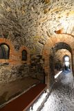 Lanterna museum, fyren av staden av Genua Genova italy liguria arkivbild