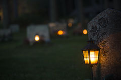 Lanterna na sepultura imagens de stock