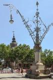 Lanterna nello stile di Art Deco, Barcellona Fotografia Stock