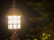Lanterna no fundo da cena da noite Imagens de Stock Royalty Free