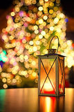 Lanterna no mercado europeu do Natal Imagens de Stock