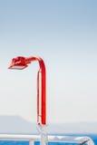 A lanterna no navio Ilha do Rodes Greece Foto de Stock