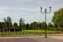 lanterna no parque regular Fotos de Stock