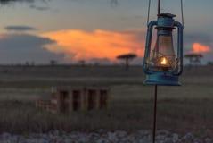 Lanterna no por do sol Imagem de Stock