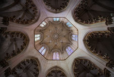 Lanterna octogonal da capela do túmulo de John I-Batalha, Fotografia de Stock