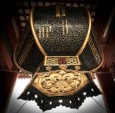 Lanterna ornamentado no santuário de Asakusa, Tóquio fotos de stock royalty free