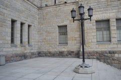 Lanterna preta velha no castelo imperial em poznan fotografia de stock royalty free