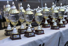 Lanterna Rally Race 2010. The table of awards for the best equipments of the race Royalty Free Stock Photography